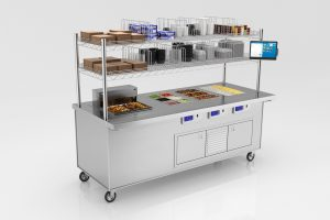 Die wall mobile foodservice cart