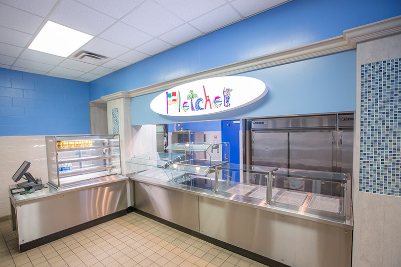 Fletcher Middle School Purchases Sleek Stainless Steel Serving Lines and Food Court Structures