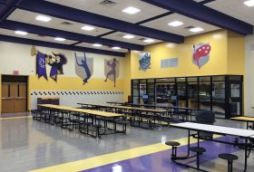 central islip high school cafeteria renovation seating area