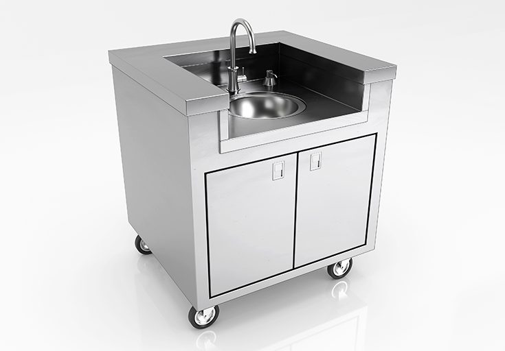 lti stainless steel portable sink
