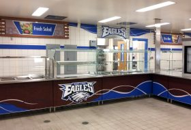 east lake hs new serving lines signage