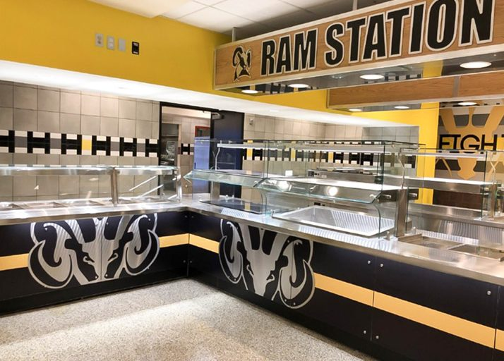 englewood high school cafeteria remodel servery