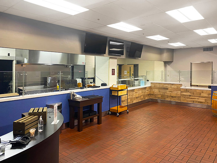brown forman corporate cafeteria custom counters